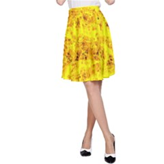 Yellow Abstract Background A Line Skirt
