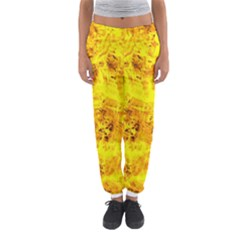 Yellow Abstract Background Women s Jogger Sweatpants