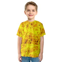 Yellow Abstract Background Kids  Sport Mesh Tee