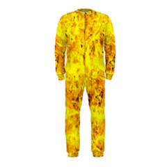 Yellow Abstract Background Onepiece Jumpsuit (kids)