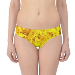 Yellow Abstract Background Hipster Bikini Bottoms