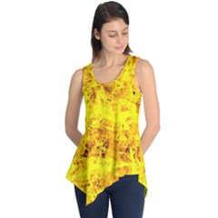 Yellow Abstract Background Sleeveless Tunic