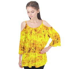 Yellow Abstract Background Flutter Tees