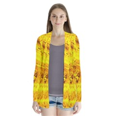 Yellow Abstract Background Cardigans