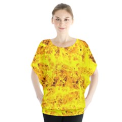 Yellow Abstract Background Blouse