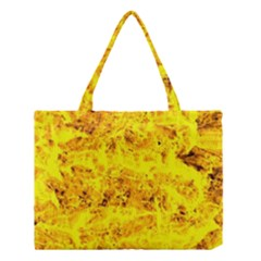 Yellow Abstract Background Medium Tote Bag