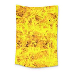 Yellow Abstract Background Small Tapestry