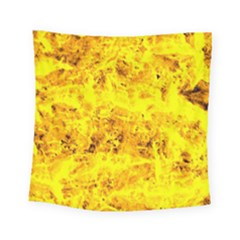 Yellow Abstract Background Square Tapestry (small)