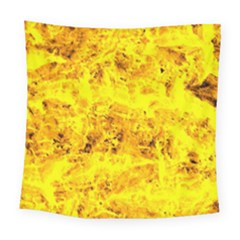 Yellow Abstract Background Square Tapestry (large)