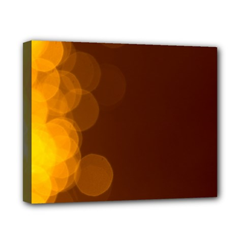 Yellow And Orange Blurred Lights Orange Gerberas Yellow Bokeh Background Canvas 10  X 8