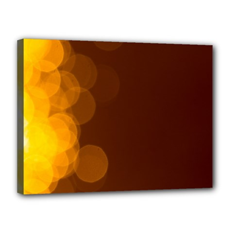Yellow And Orange Blurred Lights Orange Gerberas Yellow Bokeh Background Canvas 16  X 12