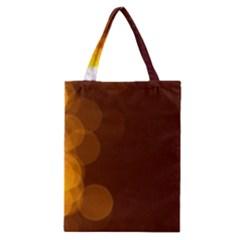 Yellow And Orange Blurred Lights Orange Gerberas Yellow Bokeh Background Classic Tote Bag