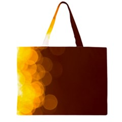 Yellow And Orange Blurred Lights Orange Gerberas Yellow Bokeh Background Large Tote Bag