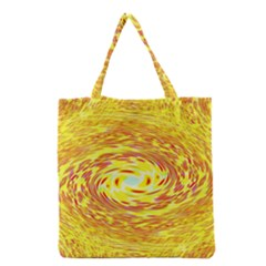Yellow Seamless Psychedelic Pattern Grocery Tote Bag