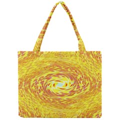 Yellow Seamless Psychedelic Pattern Mini Tote Bag
