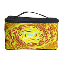 Yellow Seamless Psychedelic Pattern Cosmetic Storage Case