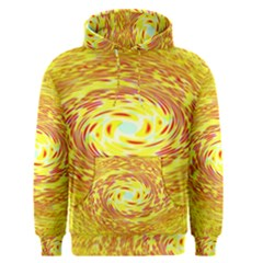 Yellow Seamless Psychedelic Pattern Men s Pullover Hoodie