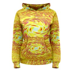 Yellow Seamless Psychedelic Pattern Women s Pullover Hoodie