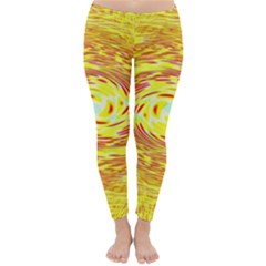 Yellow Seamless Psychedelic Pattern Classic Winter Leggings