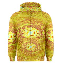 Yellow Seamless Psychedelic Pattern Men s Zipper Hoodie