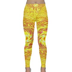 Yellow Seamless Psychedelic Pattern Classic Yoga Leggings