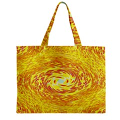 Yellow Seamless Psychedelic Pattern Zipper Mini Tote Bag