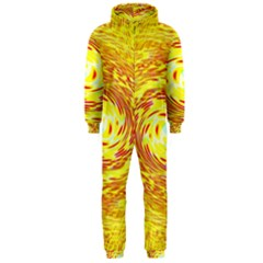 Yellow Seamless Psychedelic Pattern Hooded Jumpsuit (men)