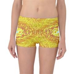 Yellow Seamless Psychedelic Pattern Boyleg Bikini Bottoms