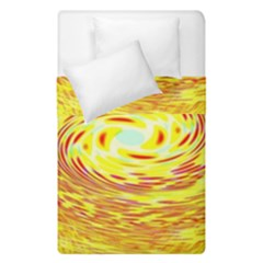 Yellow Seamless Psychedelic Pattern Duvet Cover Double Side (single Size)