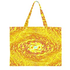 Yellow Seamless Psychedelic Pattern Zipper Large Tote Bag