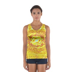 Yellow Seamless Psychedelic Pattern Women s Sport Tank Top