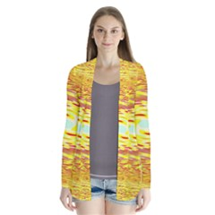Yellow Seamless Psychedelic Pattern Cardigans