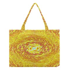 Yellow Seamless Psychedelic Pattern Medium Tote Bag