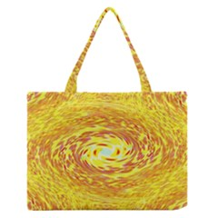 Yellow Seamless Psychedelic Pattern Medium Zipper Tote Bag