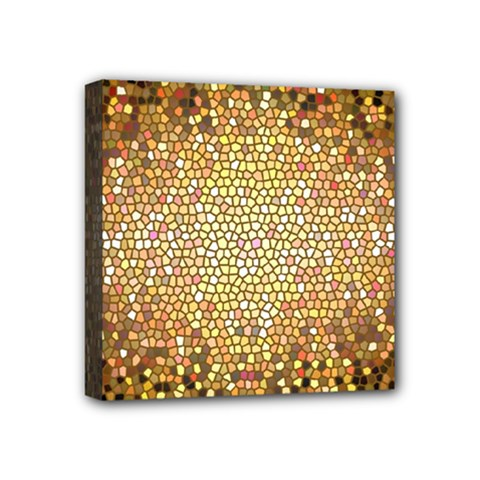 Yellow And Black Stained Glass Effect Mini Canvas 4  X 4