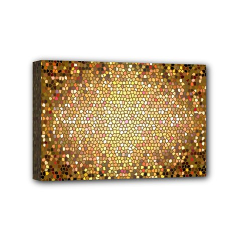 Yellow And Black Stained Glass Effect Mini Canvas 6  X 4
