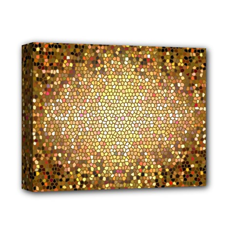 Yellow And Black Stained Glass Effect Deluxe Canvas 14  X 11