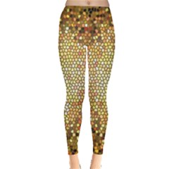 Yellow And Black Stained Glass Effect Leggings