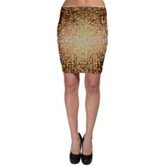 Yellow And Black Stained Glass Effect Bodycon Skirt