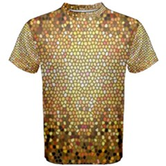Yellow And Black Stained Glass Effect Men s Cotton Tee