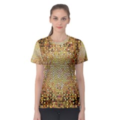Yellow And Black Stained Glass Effect Women s Sport Mesh Tee