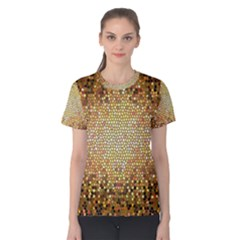 Yellow And Black Stained Glass Effect Women s Cotton Tee