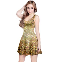 Yellow And Black Stained Glass Effect Reversible Sleeveless Dress