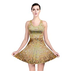 Yellow And Black Stained Glass Effect Reversible Skater Dress