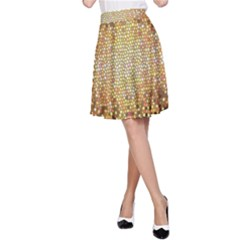 Yellow And Black Stained Glass Effect A Line Skirt