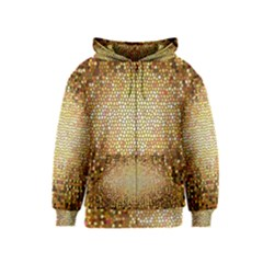 Yellow And Black Stained Glass Effect Kids  Zipper Hoodie