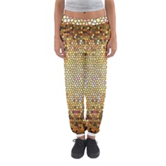 Yellow And Black Stained Glass Effect Women s Jogger Sweatpants