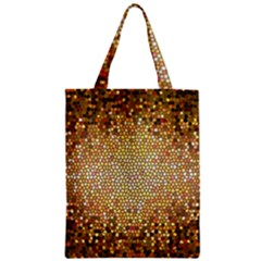 Yellow And Black Stained Glass Effect Zipper Classic Tote Bag