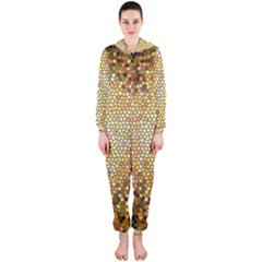 Yellow And Black Stained Glass Effect Hooded Jumpsuit (ladies)