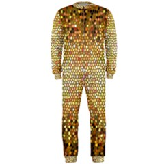 Yellow And Black Stained Glass Effect OnePiece Jumpsuit (Men)